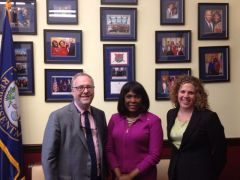 Representative Terri Sewell (AL-7) with Conservation Alabama's Jim Spearman and LCV's Erica Toler.